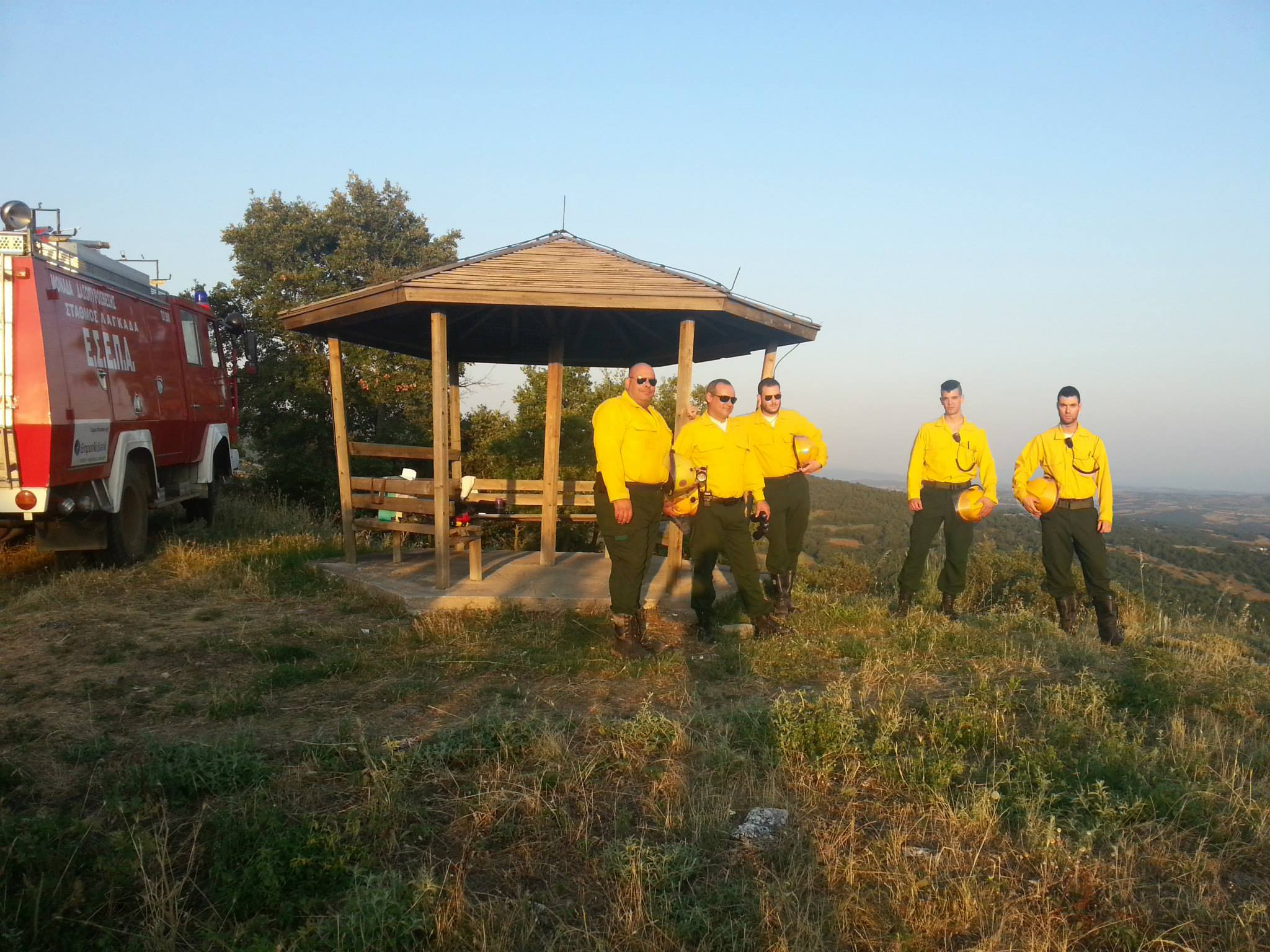 Eine Staffel auf Waldbrandpatrouille im Juni 2015